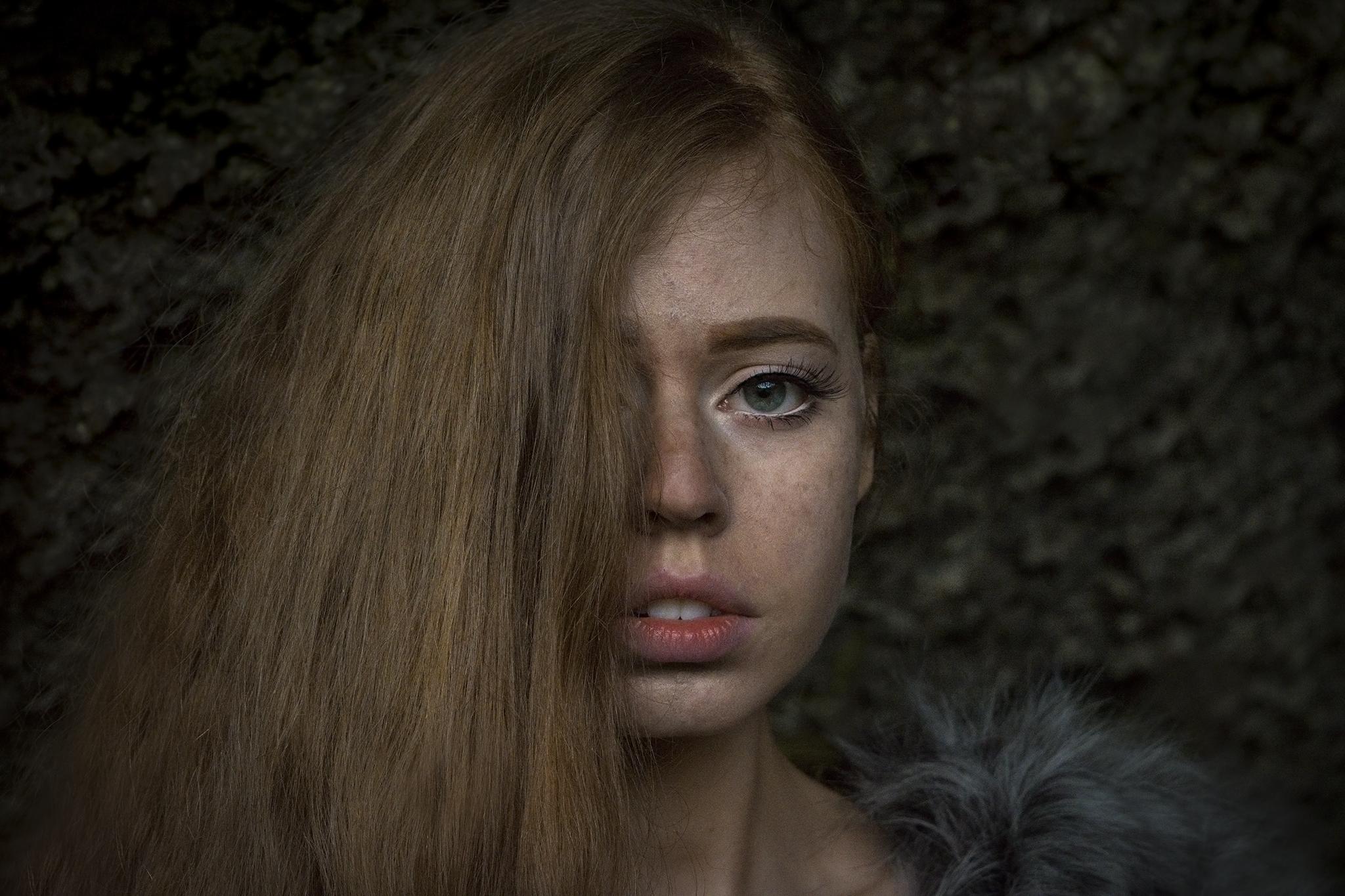 Portrait of an Icelandic girl